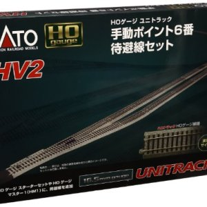Kato USA Model Train Products HV2 UNITRACK Passing Siding Track Set with #6 Manual Turnout 51ftuiP7bXL