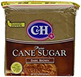 C&H, Cane Sugar, Dark Brown, 2lb Bag (Pack of 2)