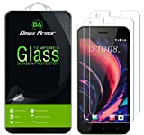 [2-Pack] Dmax Armor for HTC Desire 10 Pro Screen Protector, [Tempered Glass] 0.3mm 9H Hardness, Anti-Scratch, Anti-Fingerprint, Bubble Free, Ultra-Clear