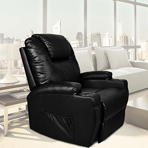 U-MAX Power Lift Chairs Recliner for Elderly PU Leather Heated Vibration with Remote