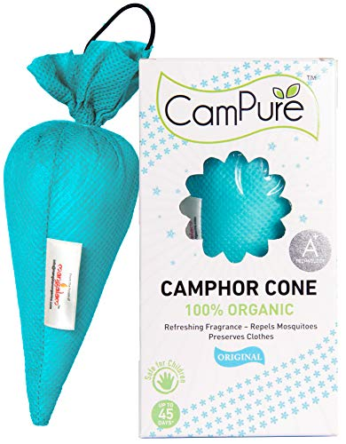 51fvnENSDsL - Mangalam Campure Original Camphor Cone - Room Freshener, Mosquito - Insect Repellent 60g (Pack Of 4)