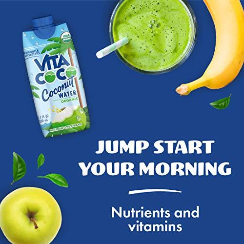 Vita Coco Coconut Water, Pure Organic | Refreshing Coconut Taste | Natural Electrolytes | Vital Nutrients | 11.1 Oz (Pack Of 12) 5