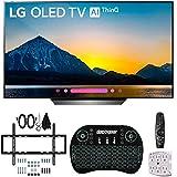 LG B8PUA 55 OLED 4K HDR AI Smart TV with Wireless Keyboard + Wall Bracket Bundle