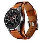 a7971ff223a95 Balerion Cuff Genuine Leather Watch Band,Compatible with Galaxy Watch  46mm,Gear S3,