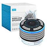 Bluetooth Shower Speaker by Johns Avenue. Waterproof - Wireless - Portable Speaker with Strong Suction Cup and LED Mood Lights.