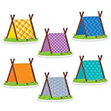 "Creative Teaching Press Woodland Friends Pup Tents 6"" Designer Cut-Outs (6010)"