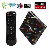 [EstgoSZ H96 Max TV Box 4GB Ram 32GB ROM] Android 7.1 RK3328 4K Smart Android TV Box Support 2.4G/5G Dual Wifi/100M LAN/USB3.0/BT 4.0/3D /H265 UHD Android Box