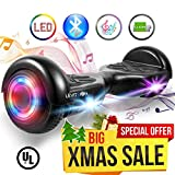 """Levit8ion ION 6.5"""" Hoverboard - Self Balancing Scooter 2 Wheel Electric Scooter - UL Certified 2272 Bluetooth w/Speaker, LED Wheels and LED Lights"""