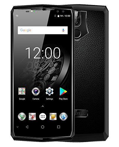 "Oukitel K10 6.0"" 18:9 Display Face ID 6G RAM 64G ROM 11000mAh 5V/5A Quick Charge MTK6763 Fingerprint NFC Four Cameras Smartphone Black"