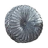 Zituop Home Decorative Round Pumpkin Throw Pillows, 13.8-inch (Grey)