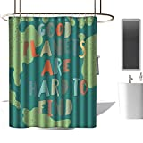 shower curtains cloth for bathroom Quotes Decor Collection,Earth Day Environmental Good Planets are Hard to Find Modern Positive Script Print,Dark Teal ,W55' x L84',shower curtain for clawfoot tub