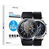 OMOTON Tempered Glass Screen Protector Compatible Samsung Gear S3 / Galaxy Watch 46mm [3 Pack]
