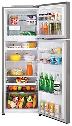 51gA%2BUfFvAL LG 335 L 3 Star Inverter Frost-Free Double Door Refrigerator (GL-T372JDS3, Dazzle Steel, Convertible)