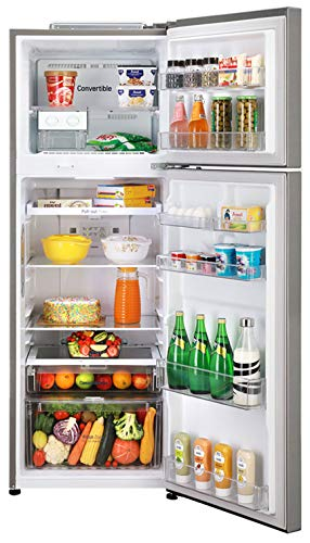 51gA%2BUfFvAL - LG 335 L 3 Star Inverter Frost-Free Double Door Refrigerator (GL-T372JDS3, Dazzle Steel, Convertible)