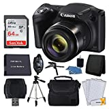 Canon PowerShot SX420 20 MP Digital Camera (Black) + 64GB SDHC Memory Card + Deluxe Carrying Case + Extra Battery + 50' Quality Tripod + Hand Grip + Cleaning Kit + Complete Accessories