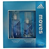 Adidas Fragrance Moves for Her 2 Piece Gift Set (0.5 Ounce Plus 1 Ounce Eau De Toilette)