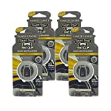 Yankee Candle Smart Scent Vent Clip Odor Neutralizing Car AC Air Freshener, New Car Scent (Pack of 4)