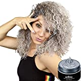 UrbanX Washable Hair Coloring Wax Material Unisex Color Dye Styling Cream Natural Hairstyle Pomade Temporary Party Cosplay Natural Ingredients (Silver)