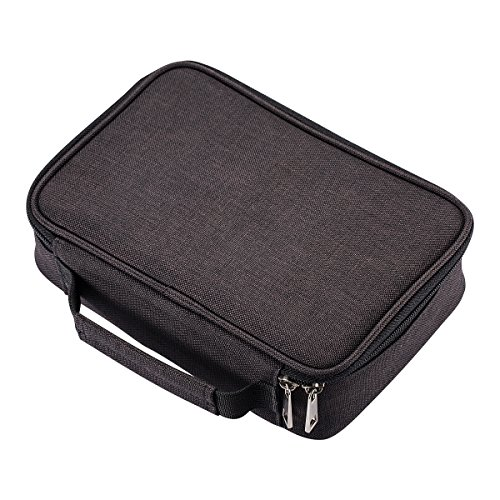 UTRO Pencil Case, 72 Slots Multi-Functional Large Capacity Pens Case Pencil Pouch Wrap Coloring Pencil Holder Organizer Stationary Bag with Interior Zippered Pocket for Small Accessories (Black)