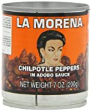 La Morena Chipotle Peppers in Adobo Sauce, 7-Ounce Tins (Pack of 6)