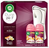 Air Wick Pure Freshmatic Automatic Spray Starter Kit, (Gadget + 2 Refills), Summer Delights, Air Freshener, Essential Oil, Odor Neutralization, Packaging May Vary