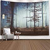 EMMTEEY Large Tapestry Wall Hanging, Tapestries Décor Living Room Bedroom for Home Inhouse by Printed 80X60 Inches for Tale Light in Foggy Forest