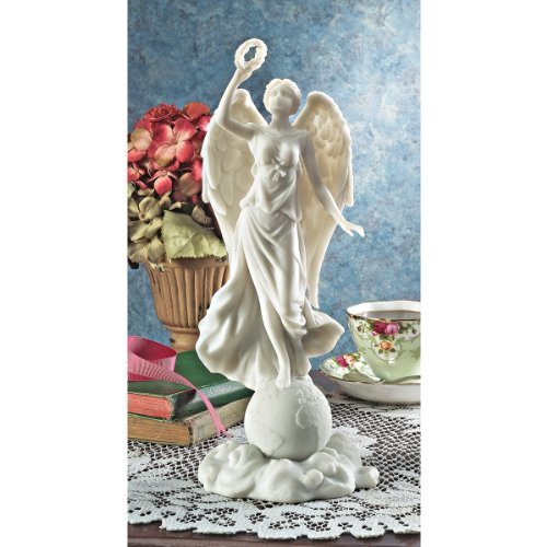 Design-Toscano-Angel-of-Peace-Bonded-Natural-Marble-Statue