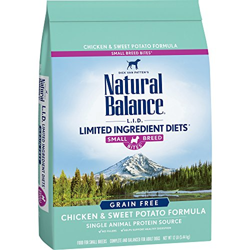 Natural Balance Limited Ingredient Diets Chicken & Sweet Potato Formula Dry Dog Food for Small Breeds, 12 Pounds, Grain Free