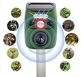 OESDLTD Multifrequency Ultrasonic Animal Solar Powered Repeller