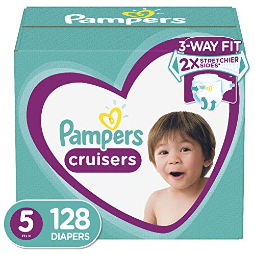 Diapers Size 5 (128 Count) - Pampers Cruisers Disposable Baby Diapers, ONE MONTH SUPPLY