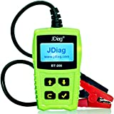 FasCheck BT200 12V Auto Battery Tester Car Cranking and Charging System Test Scan Tool Battery Analyzer Diagnostic Tool for CCA MCA JIS DIN IEC EN SAE GB etc