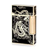 Gold Dragon Flint Wheel Cigarette Butane Gas Lighter