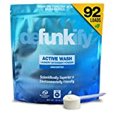 Defunkify Active Wear Laundry Detergent Powder, All Natural, Plant-Based, Enzyme Cleaner, Odor and Stain Remover, Free and Clear, Unscented 55 oz (92 Loads)