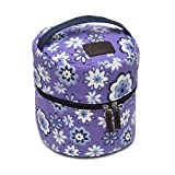 10-bottle Essential Oil Diffuser Carrying Case Tote for doTERRA, Young Living Bottles for Aromatherapy Travel or Storage (Lavender)