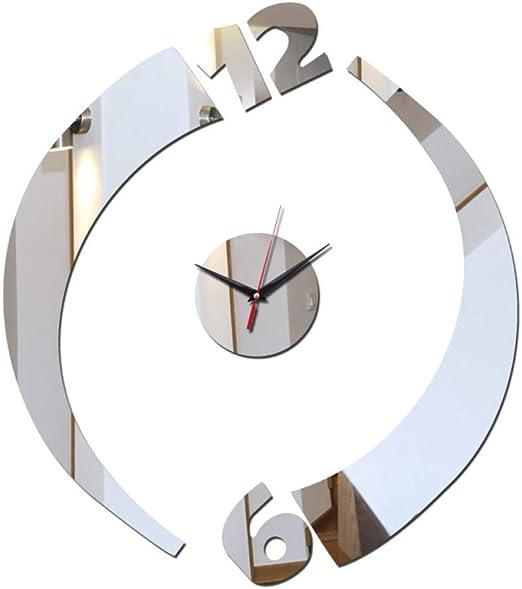 Amazon Com Mlsuy Wall Clock 2019 Top Sale Quartz Wall Clocks Clock Home Decoration Acrylic Mirror Sticker Modern Design Living Room Stickers Home Kitchen