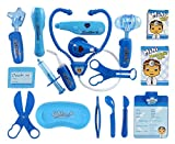Liberty Imports Deluxe Blue Doctor Nurse Medical Kit Playset for Kids - Pretend Play Tools Toy Set