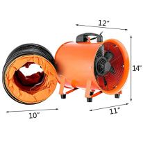 VEVOR-Utility-Blower-Fan-10-Inch-Portable-Ventilator-High-Velocity-Utility-Blower-Mighty-Mini-Low-Noise-with-5M-Duct-Hose-10-Inch-with-5M-Duct-Hose