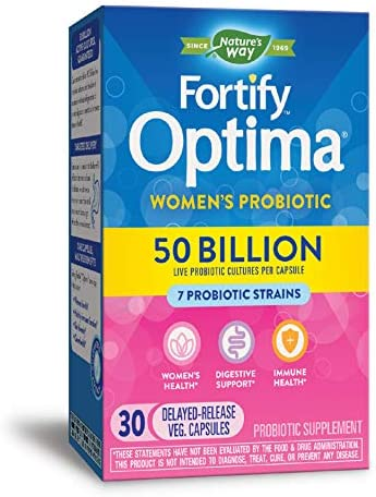 Fortify Optima Women's Daily Probiotic, 50 Billion Live Cultures, 7 Strains, 30 Capsules 1