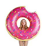 BigMouth Inc Gigantic Donut Pool Float, Funny Inflatable Vinyl Summer...