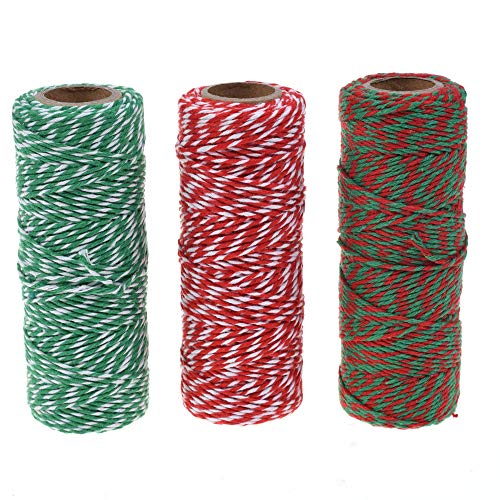 Cosmos Cotton Baker's Twine Cording, 3 Roll Assorted Colors