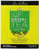 Laci Le Beau Super Dieter's Tea, Lemon Mint , 60 Count Box (Pack of 2)