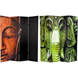 Product review for Oriental Furniture 6 ft. Tall Double Sided Buddha and Ganesh Canvas Room Divider