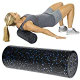 Vive Foam Roller - 18 Inch Soft Massage Stick for Back, Firm Trigger Point, Yoga, Physical Therapy & Exercise - Long High Density Round Massager for Leg, Calf, Deep Muscle Tissue & Full Body Stretch