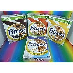 NESTLE FITNESS VARIETY WHOLE WHEAT 4 PACK (3 x 375g +1 x 355g) DARK CHOCOLATE,FRUITS, WHOLE WHEAT RICE & HONEY ALMOND,