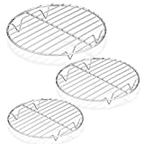 P&P CHEF Round Cooking Rack, 3 Pcs (7½' & 9' & 10½'), Baking Cooling Steaming Grilling Rack...