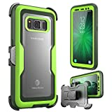 i-Blason Galaxy S8 Active Case, [Magma] [Full Body] [Heavy Duty Protection] Shock Reduction/Bumper Case with Built-in Screen Protector for Samsung Galaxy S8 Active (Not Fit Galaxy S8/S8 Plus)(Green)
