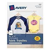 Avery InkJet Stretchable Transfer Sheets, 5 Pack (03302)