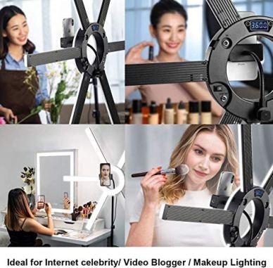 GVM-600S-LED-Ring-Light-90W-Dimmable-Led-Video-Light-Kit-with-Detachable-Light-Bars-Photography-Lighting-Led-Video-Lighting-Kit-for-Live-Broadcast-YouTube-CRI-97-3200K-5600K