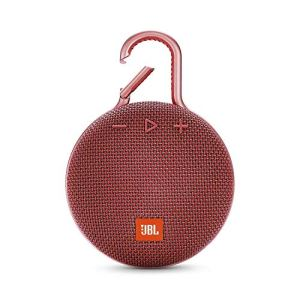 (Renewed) JBL Clip 3 Ultra-Portable Wireless Bluetooth Speaker with Mic (Red)