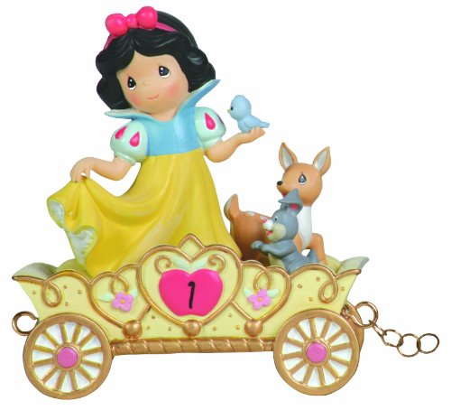 Precious Moments, Disney Showcase Collection,  May Your Birthday Be The Fairest Of Them All, Age 1, Disney Birthday Parade, Resin Figurine, 104403